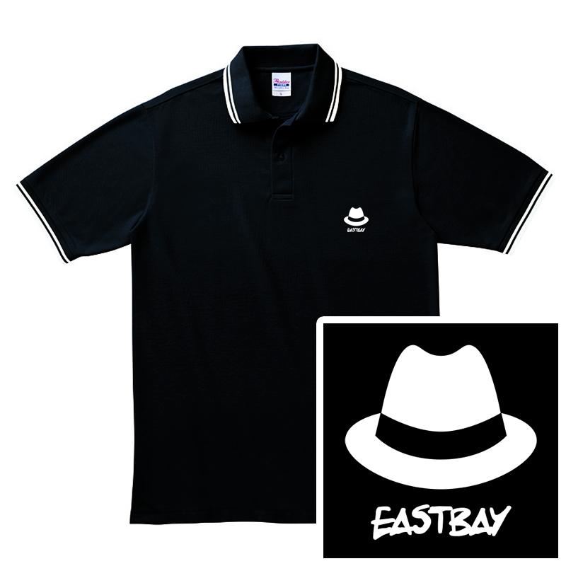 ハット刺繍ポロシャツ / 黒の写真
