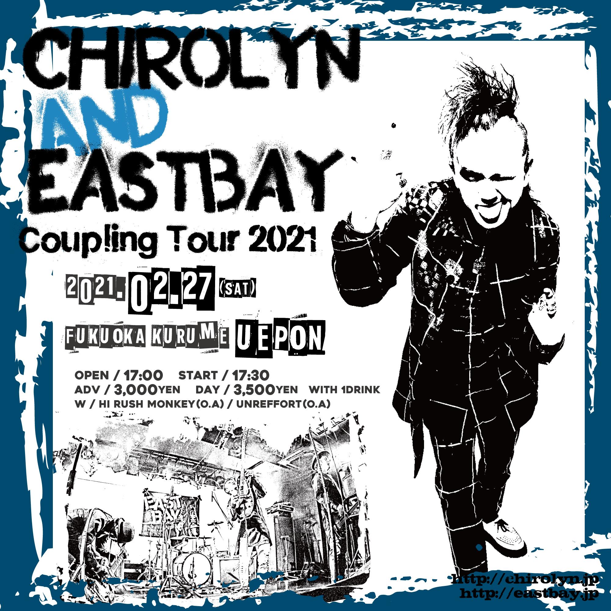 Chirolyn & EASTBAY Coupling Tour 2021 in 久留米の写真