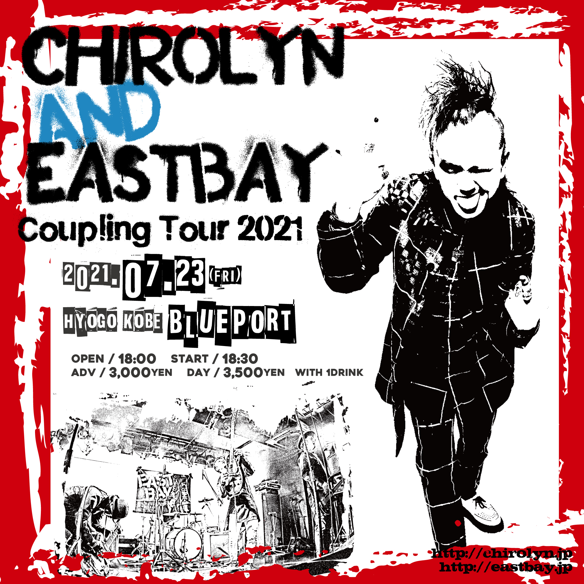 Chirolyn & EASTBAY Coupling Tour 2021 in 神戸の写真