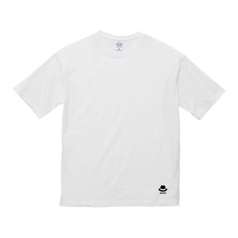 ハットワッペン&8ホール ビッグシルエットTシャツ / 白の写真